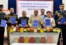 Inaugural of Compendium of instruction for ADC to Governor