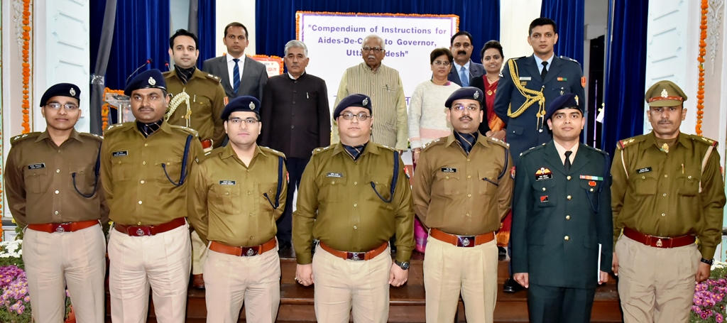 Photographs of Aides-De-Camp's Manual inaugural function.