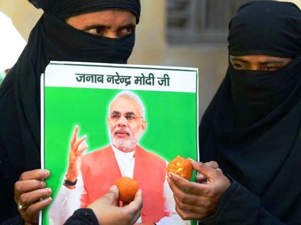 Laddu-to-Narendra-Modi-on-Triple-Talaq.