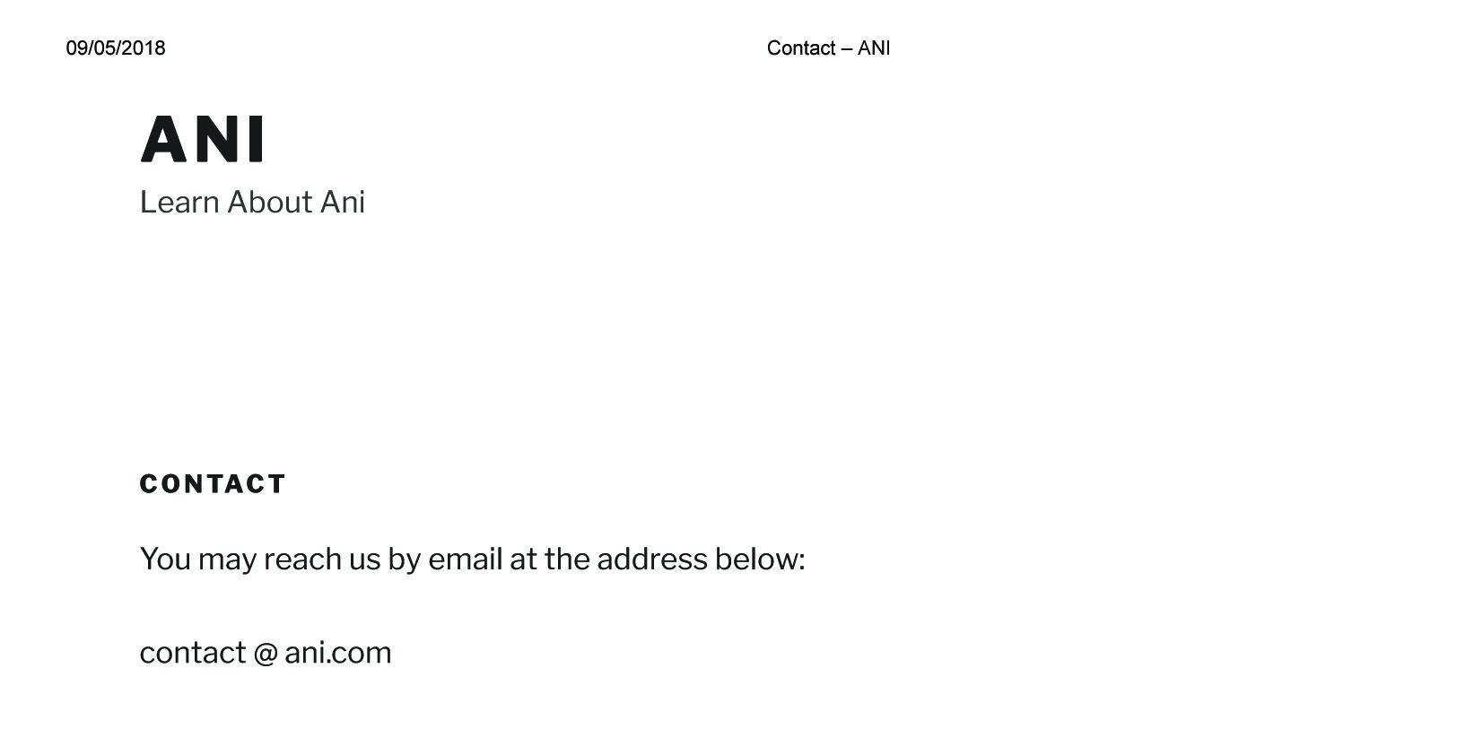 Contact – ANI copy