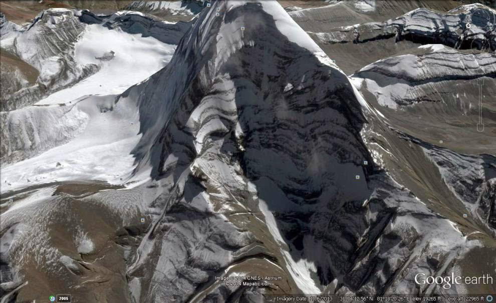Lord Shiva shadow on Kailash Mountain