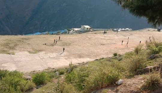 जोशीमठ में बचा एकमात्र मैदान